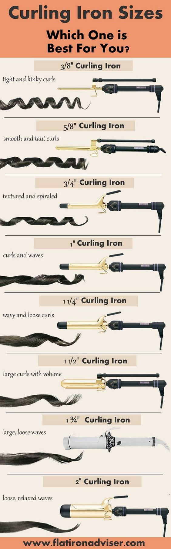 curling iron sizes - which one is best for you