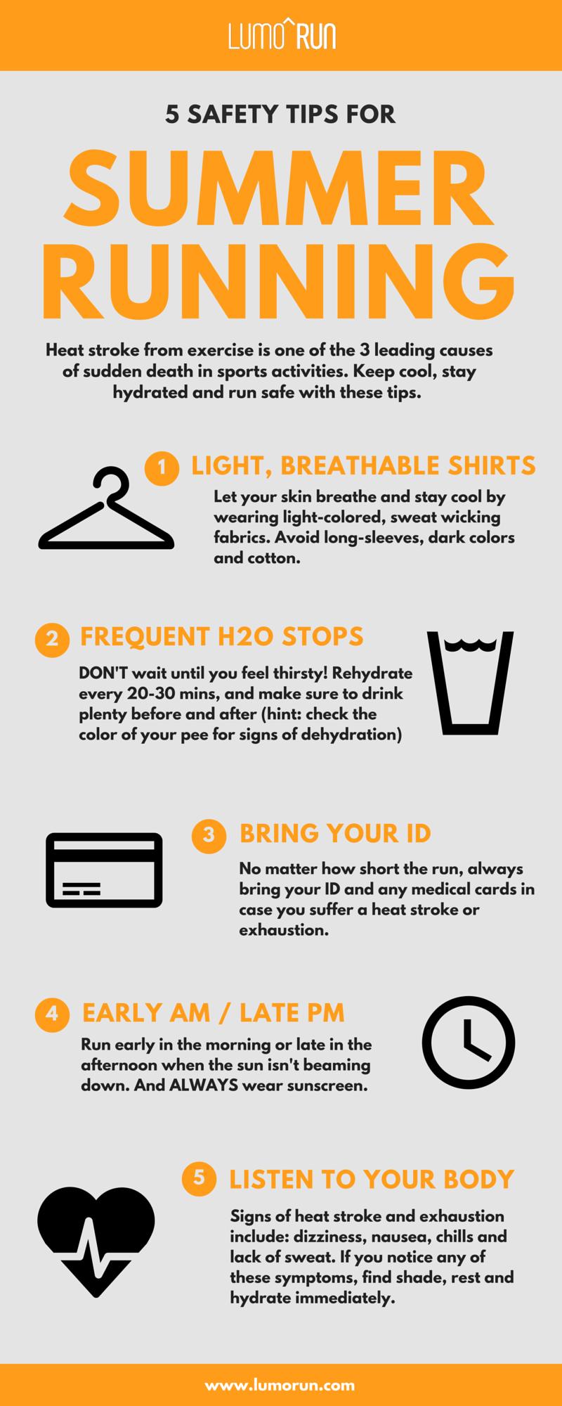 safety tips for summer running