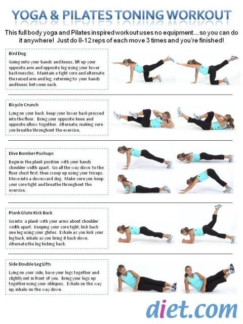yoga and Pilates toning workout