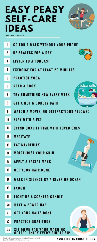 Easy Peasy Self Care Ideas