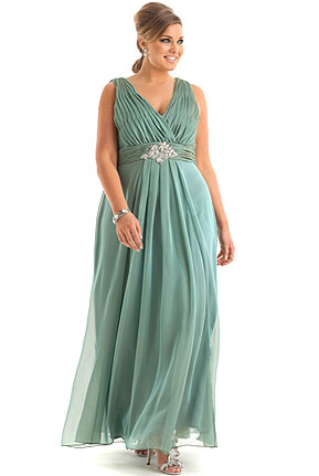 Embellished Waist Gown