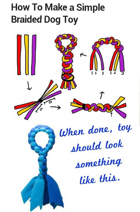 How to make simple braided Dog Toy