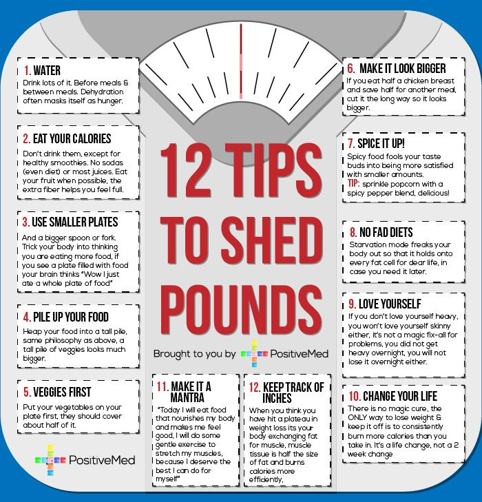 tips to shed pounds