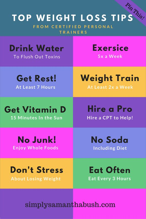 weight loss tips from certified personal trainers
