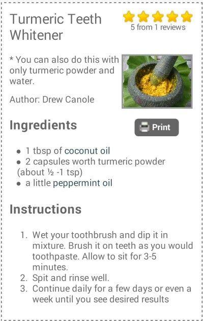 Turmeric Teeth Whitener