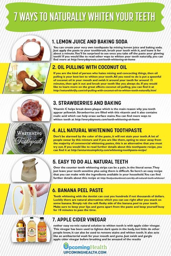 Ways to naturally whiten your teeth