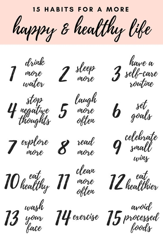 habits for happy and healthy life