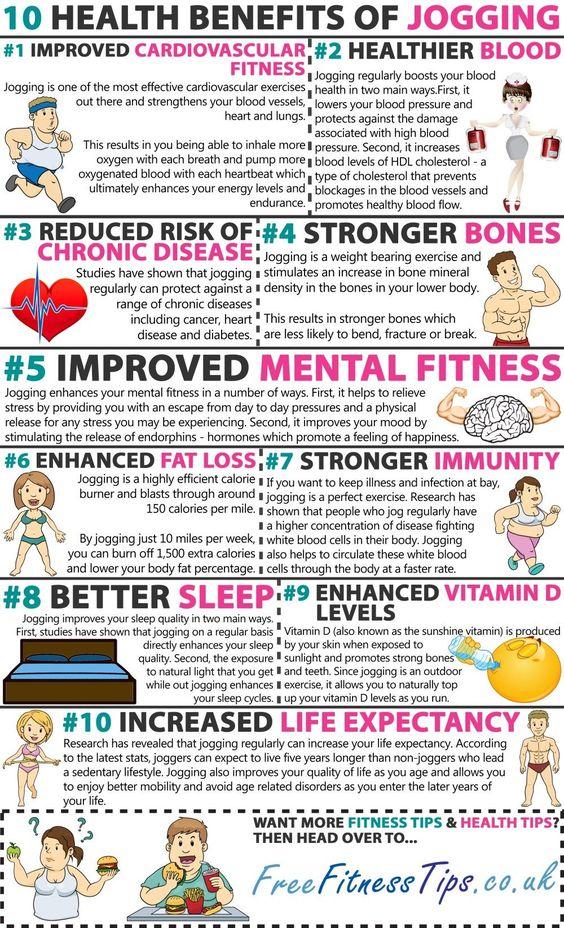 health benefits of jogging