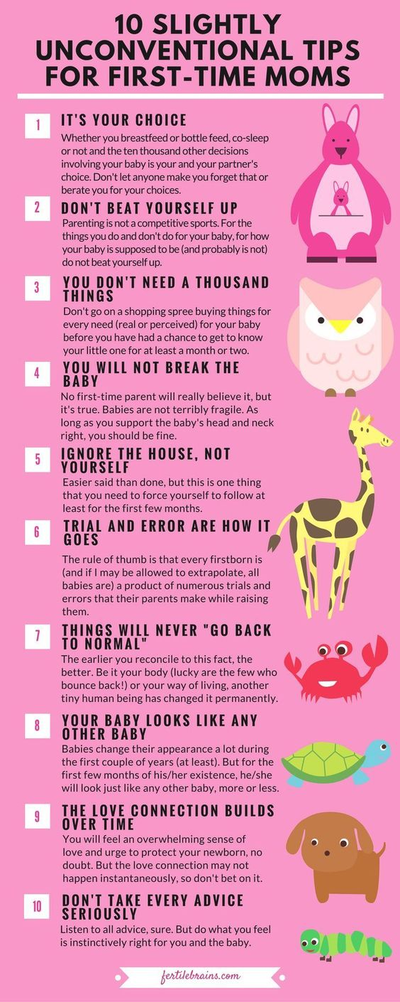 unconventional tips for first time moms