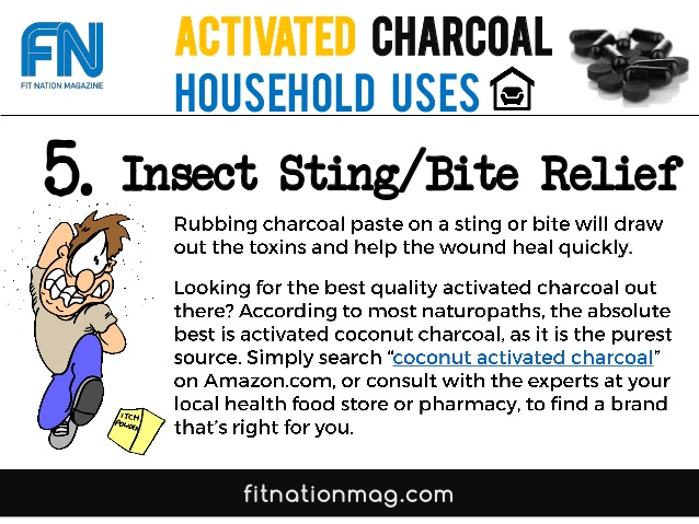 Activated Charcoal uses for Insect Sting relief