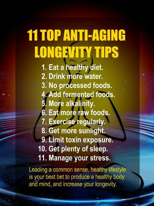 Anti Aging Longevity Tips