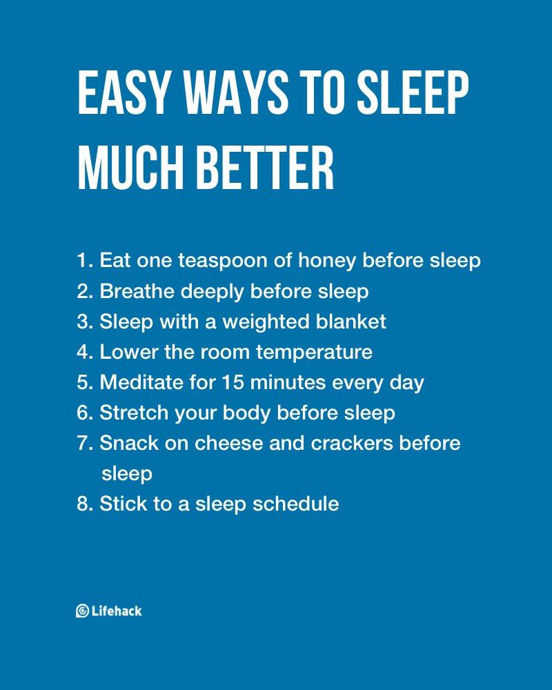 Easy Ways to Sleep Much Better