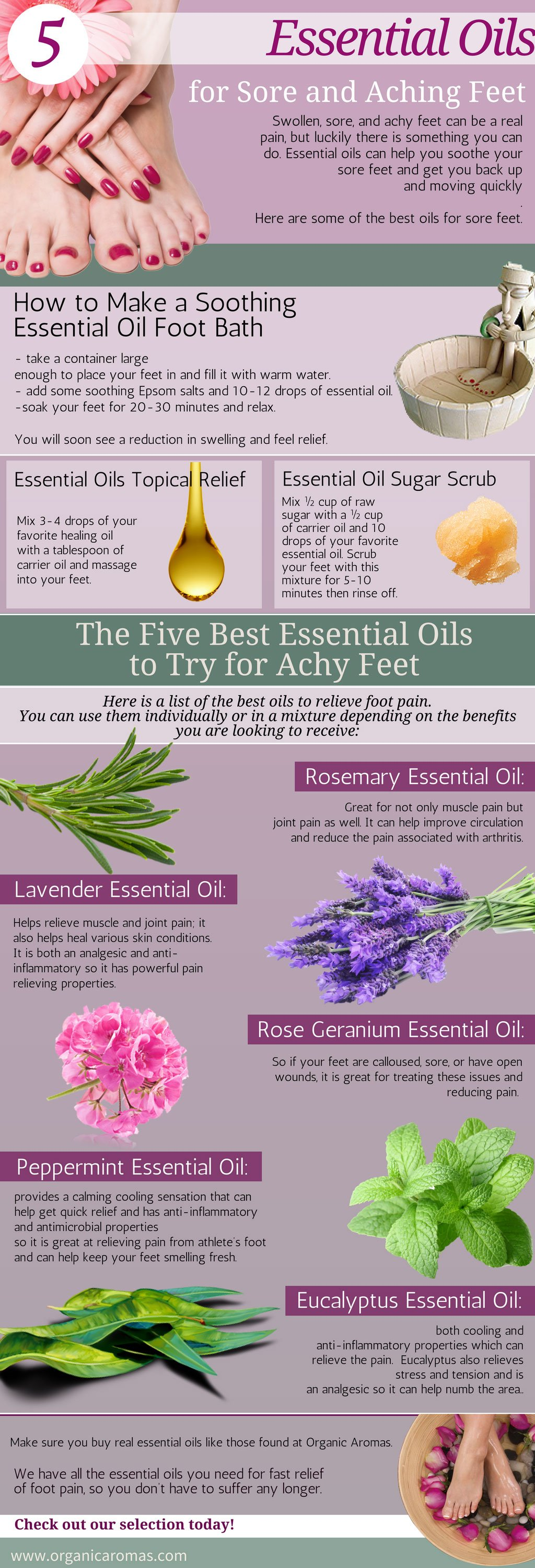 Essential Oils for Sore and Aching Feet