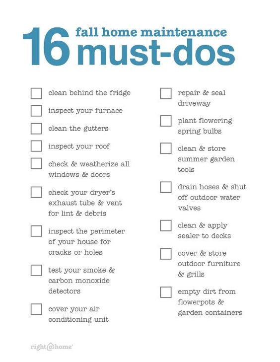 Fall Home Maintenance Must Dos