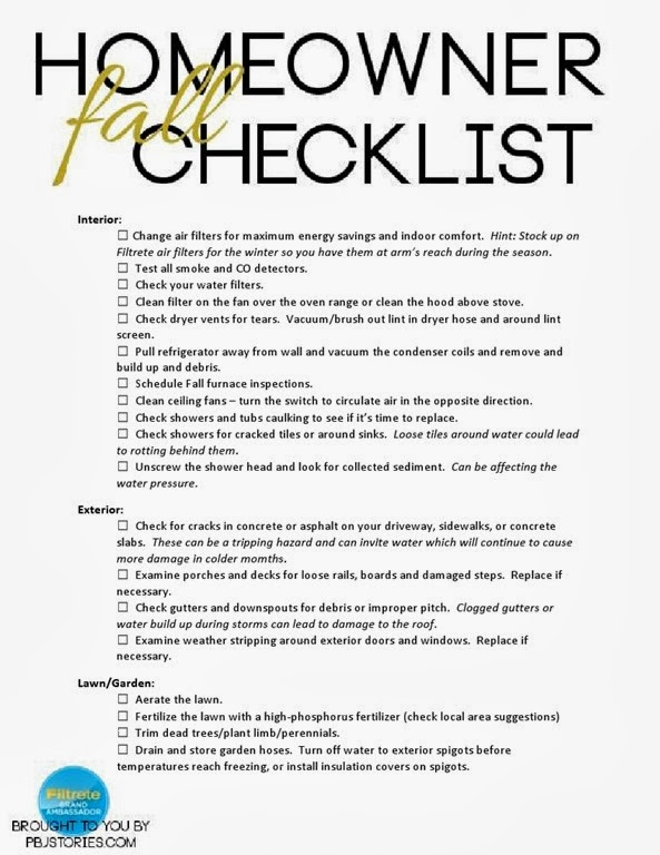 Homeowner Fall Safety Checklist