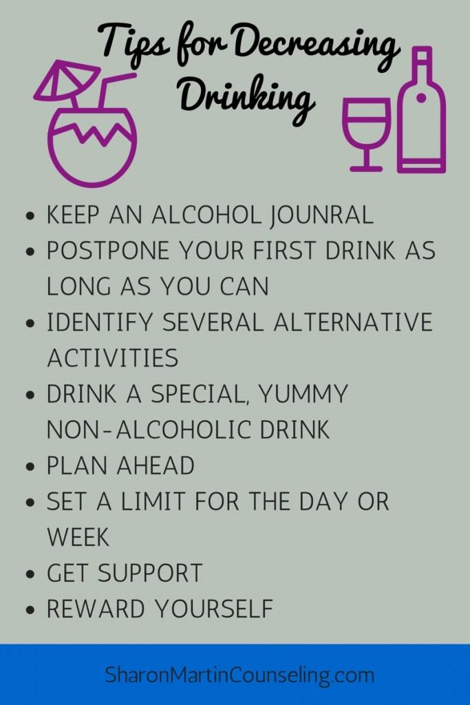 Tips for Decreasing Drinking