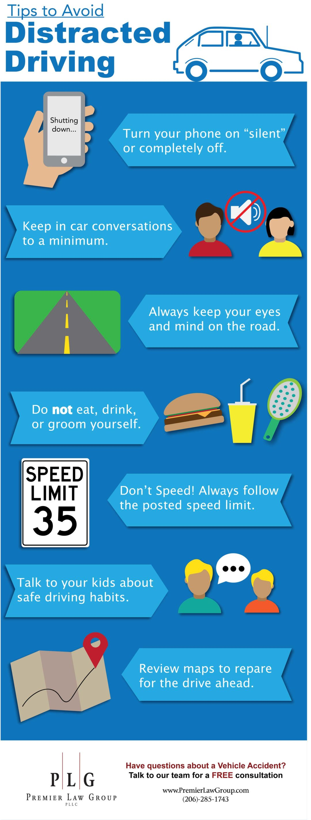Tips to avoid Distracted Driving