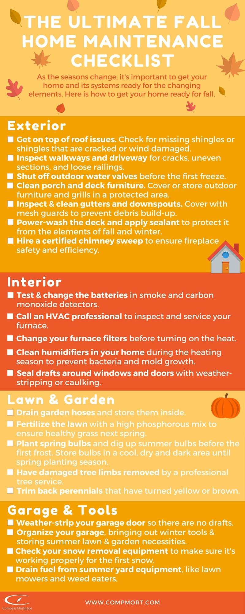 Ultimate Fall Home Maintenance Checklist