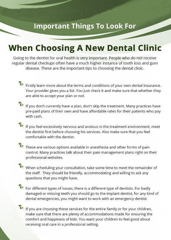 When Choosing a New Dental Clinic