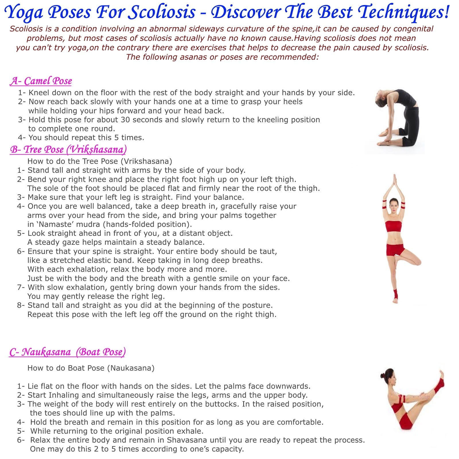Yoga Poses For Scoliosis