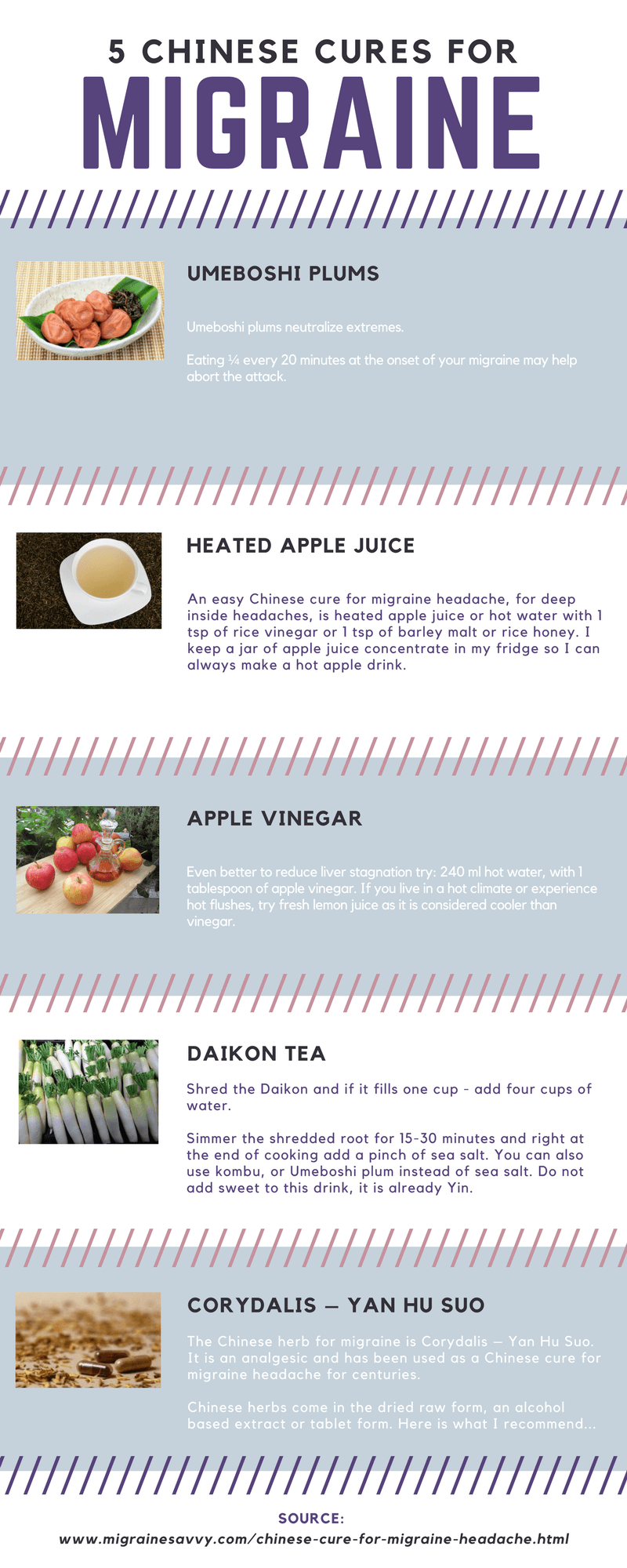 Chinese cures for migraines