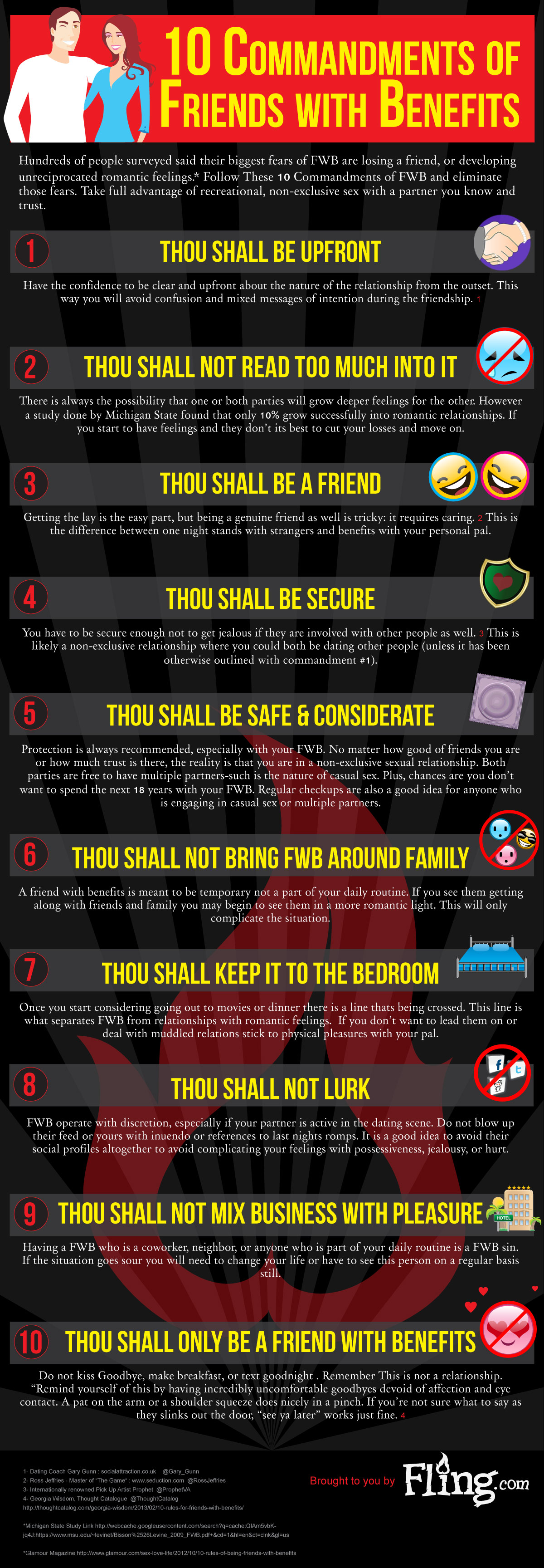 Commandments of friends with benefits