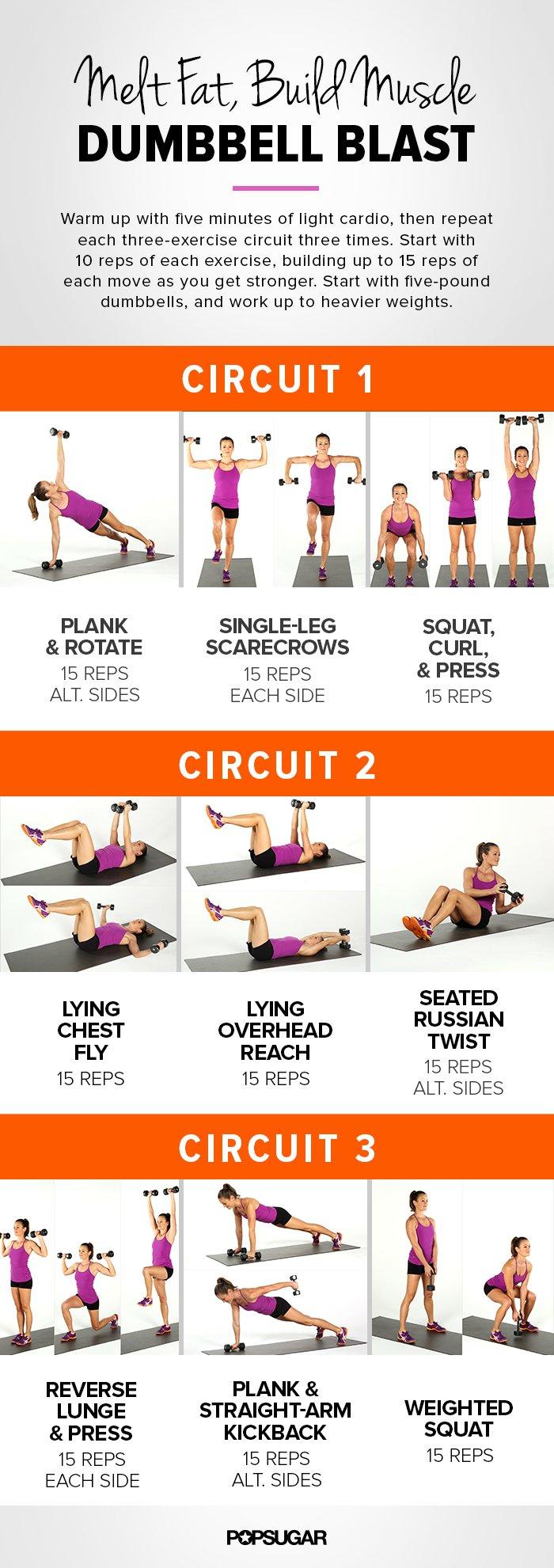 Weight Training Women Dumbbell Circuit Workout