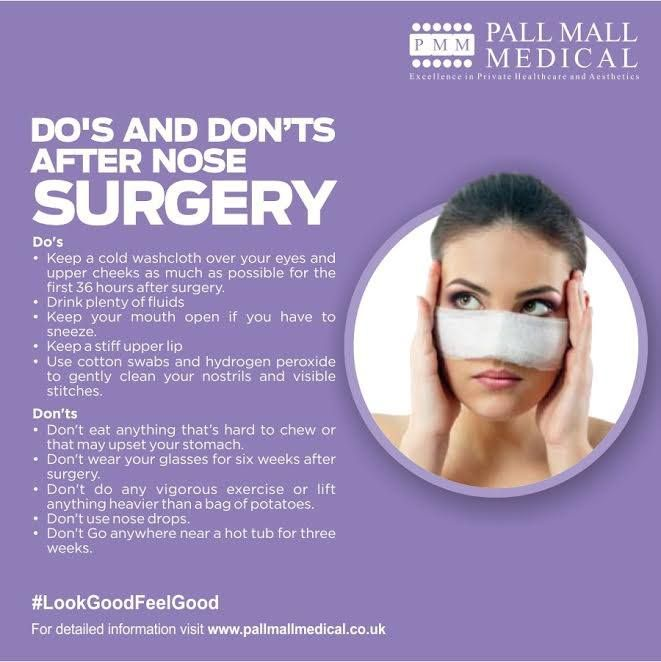 Do's and Don'ts after Nose Surgery