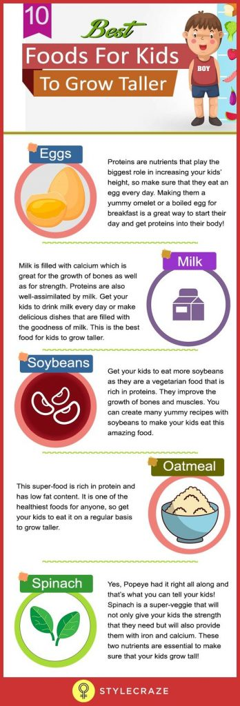 Foods for kids to grow taller