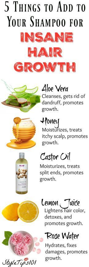 Things to add to your Shampoo for Hair Growth