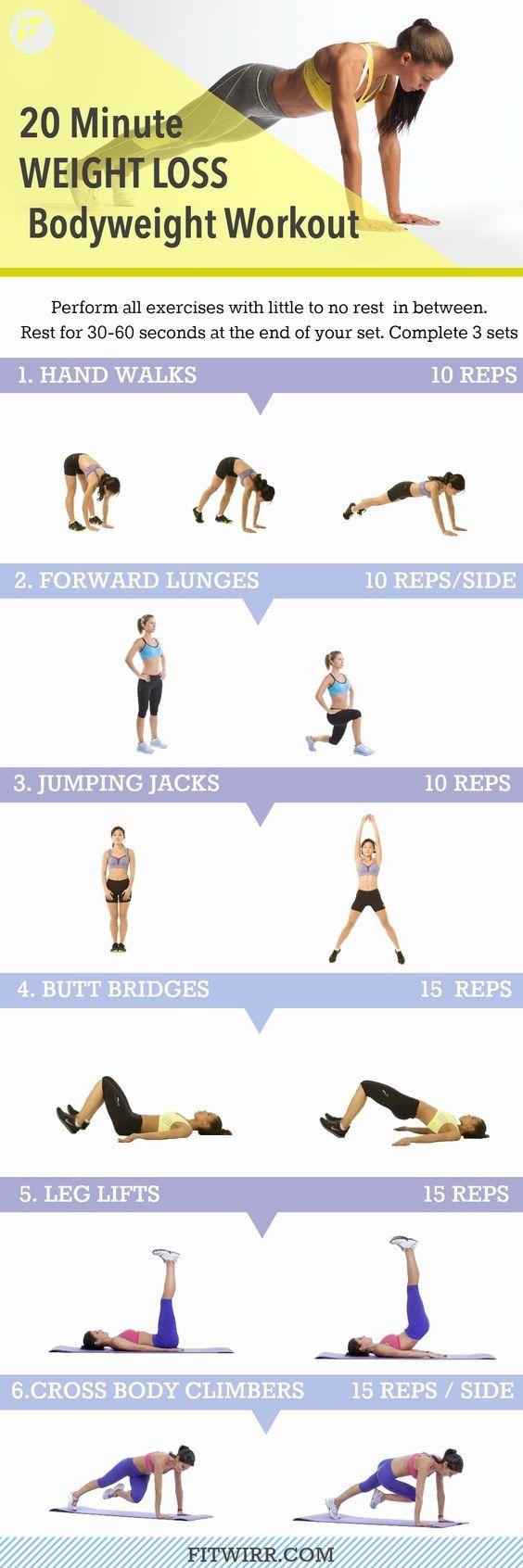 Weightloss Bodyweight Workout