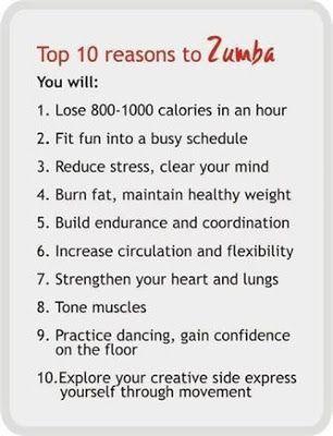 Reasons to Zumba