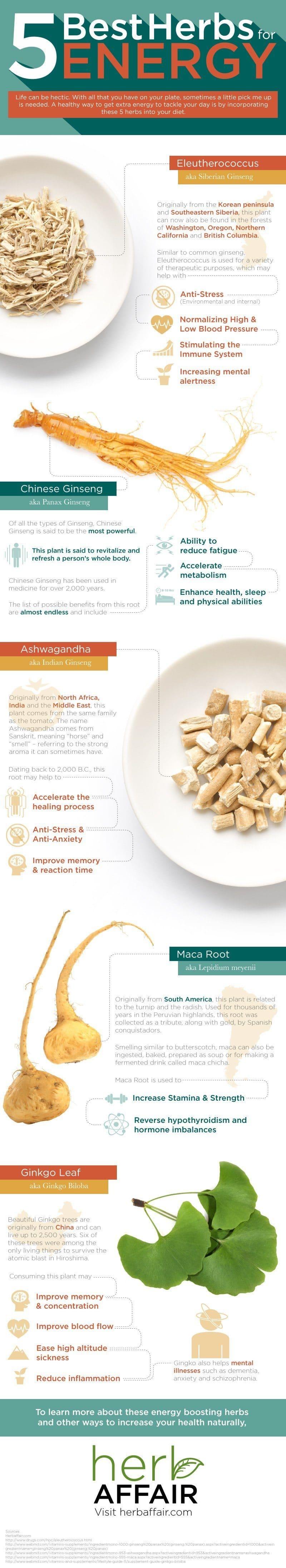 Best herbs for Energy