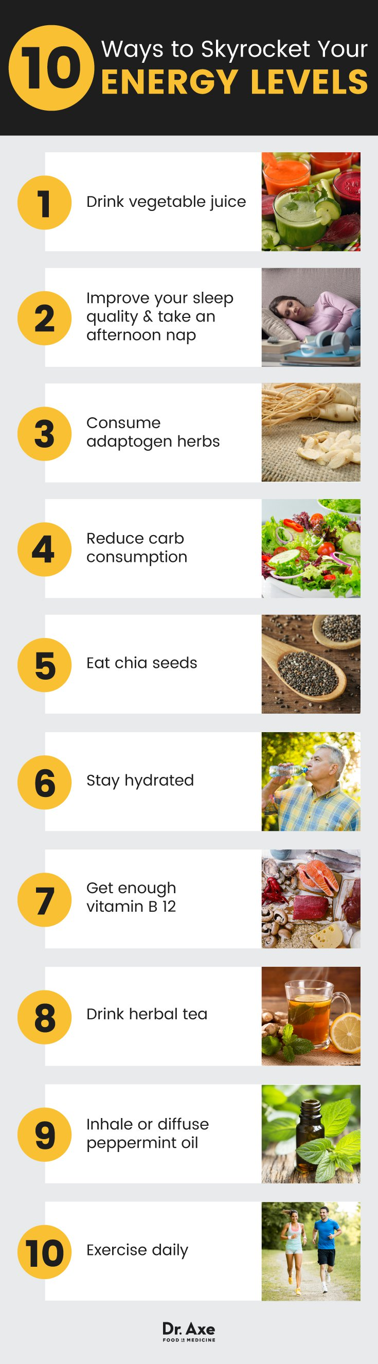 Ways to boost your energy levels