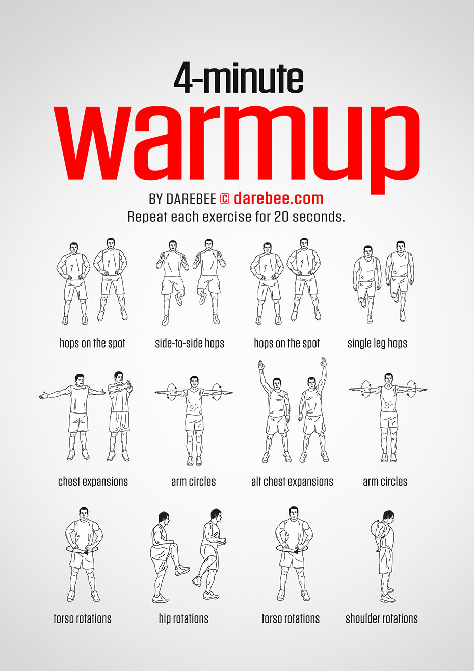 4 minute warmup workout