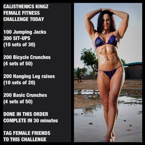 Calisthenics Female fitness Challenge
