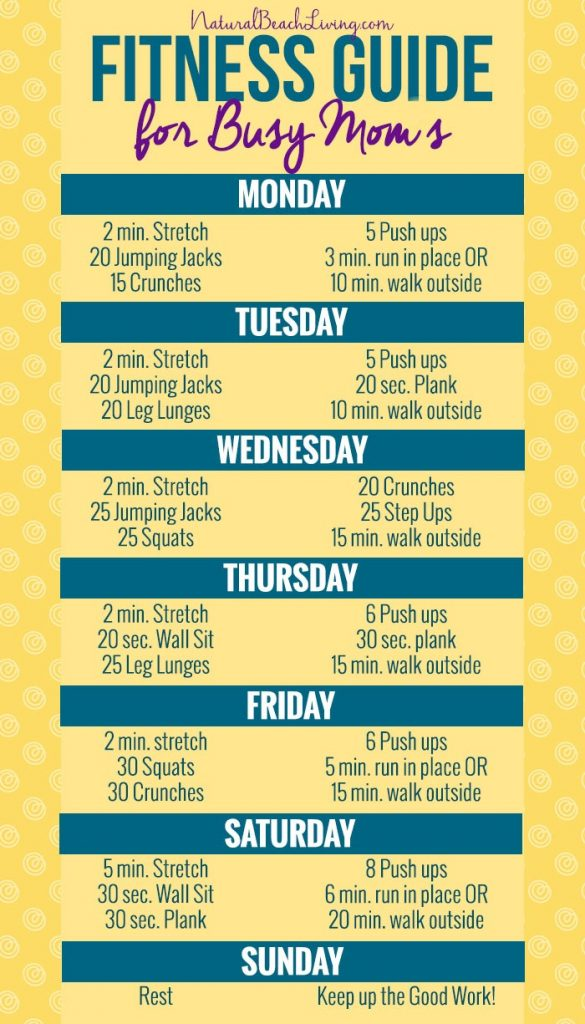 Fitness guide for Busy Moms