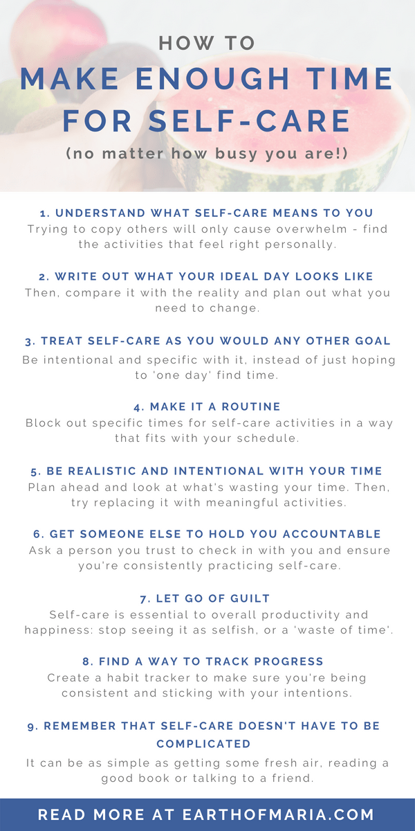 How to make enough time for self care