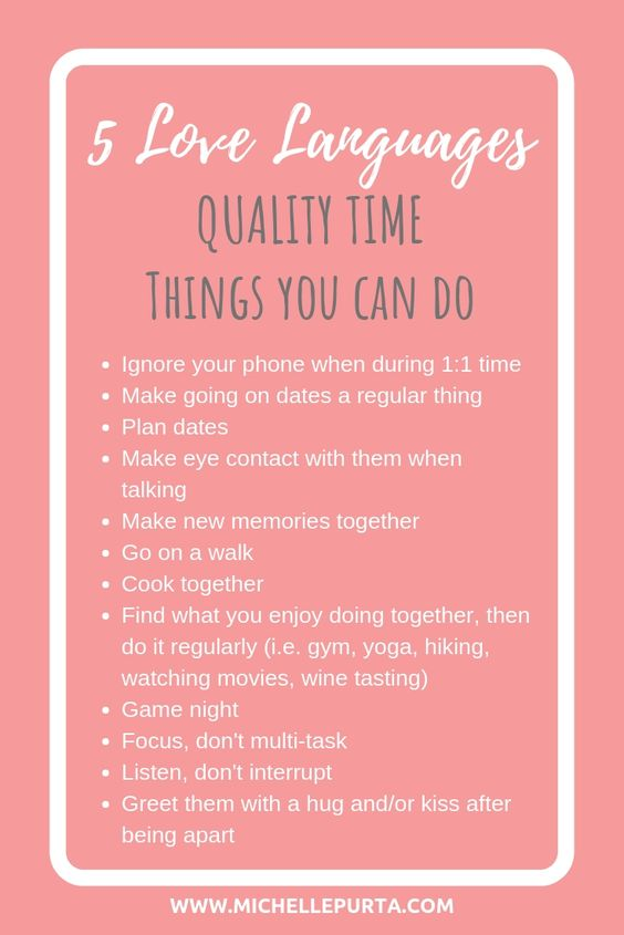 Quality time things you can do