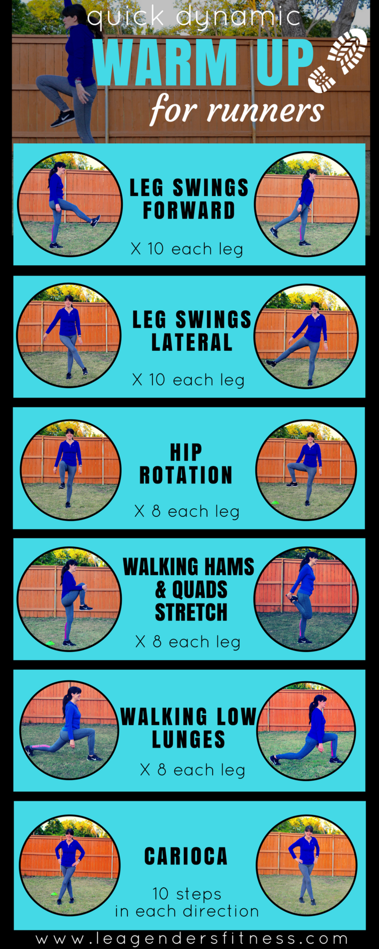 Quick dynamic warmup for runners