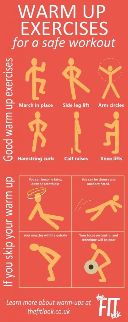 Warmup exercises for safe workout