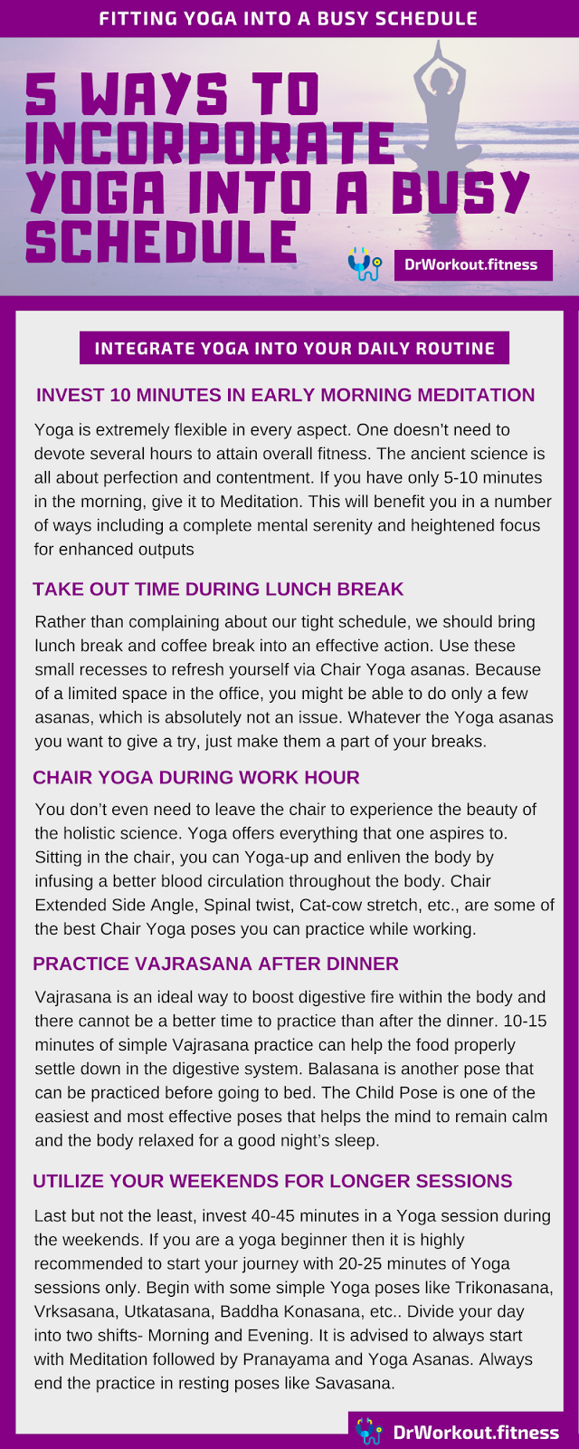 Ways to incorporate yoga into a busy schedule