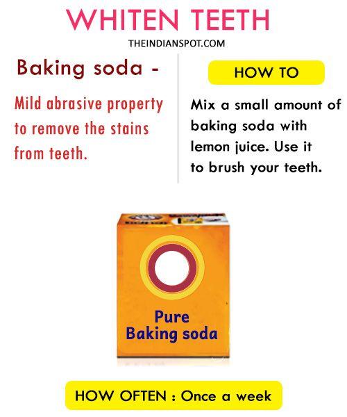 Whiten teeth by Baking Soda
