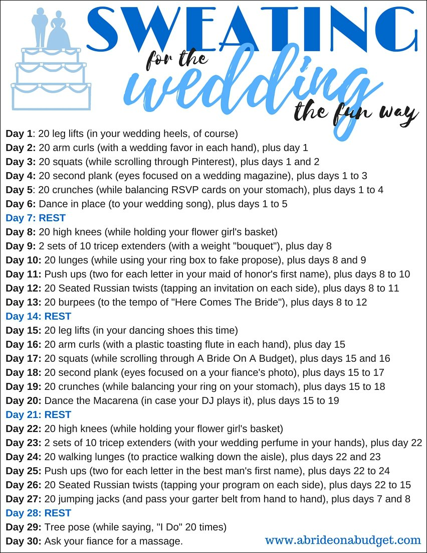 Workouts for Wedding