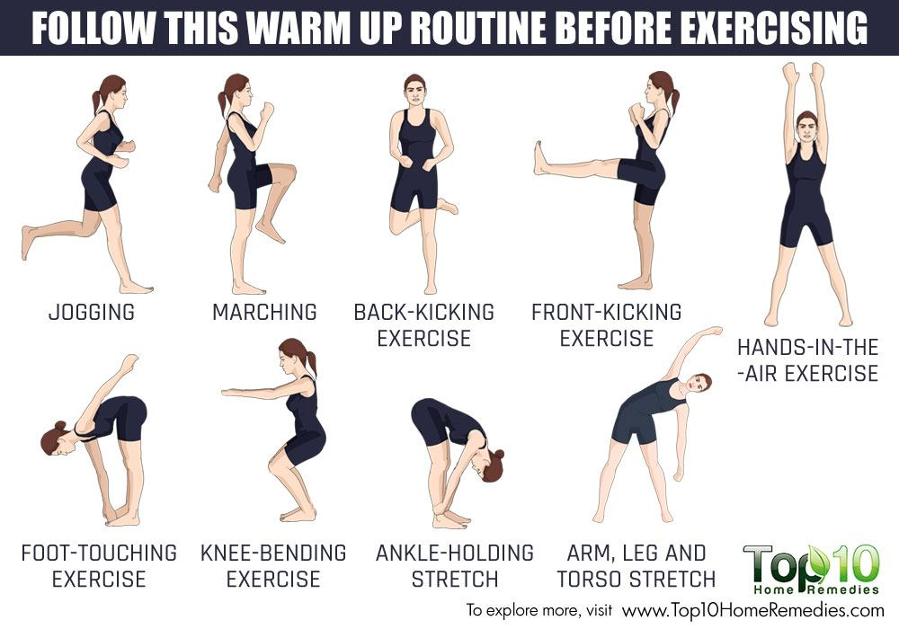 warmup routine before exercise