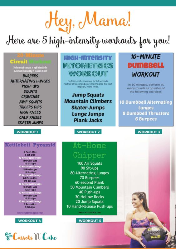 High intensity workouts for moms