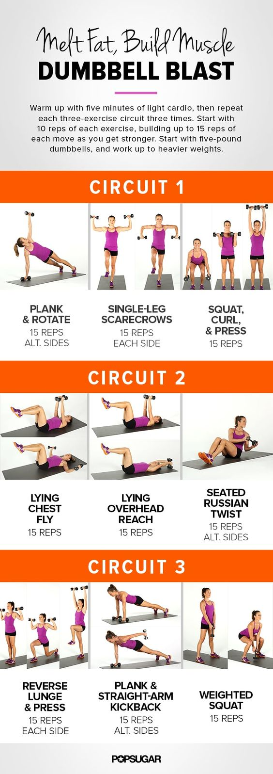 Melt Fat and Build Muscle by Dumbbell Blast