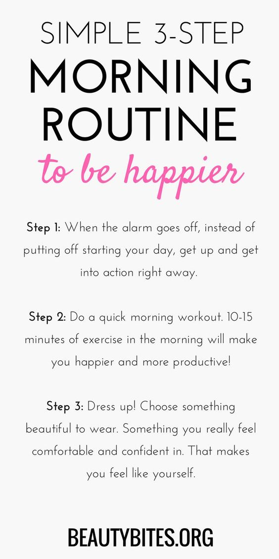 Morning Routine to be happier