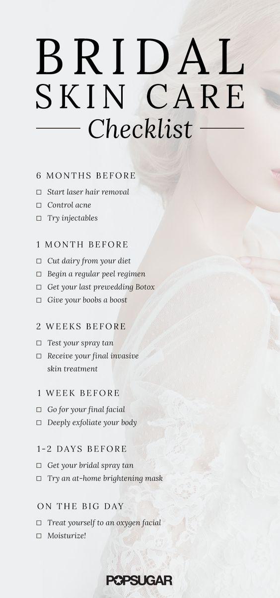 Bridal Skincare Checklist