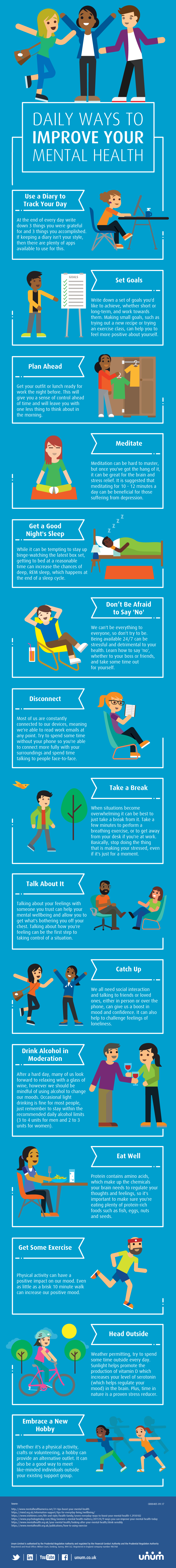 Daily ways to improve your mental health